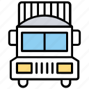 delivery van, freight car, cargo truck, shipment vehicle, goods trade icon