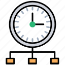 on time distribution, accurate delivery, in time delivery, fast shipping, on time cargo icon
