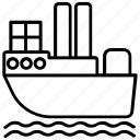 freighter ship, cargo ship, business logistics, container ships, international trade, overseas delivery icon