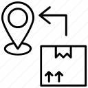 cargo location, delivery location, delivery point, shipment location icon