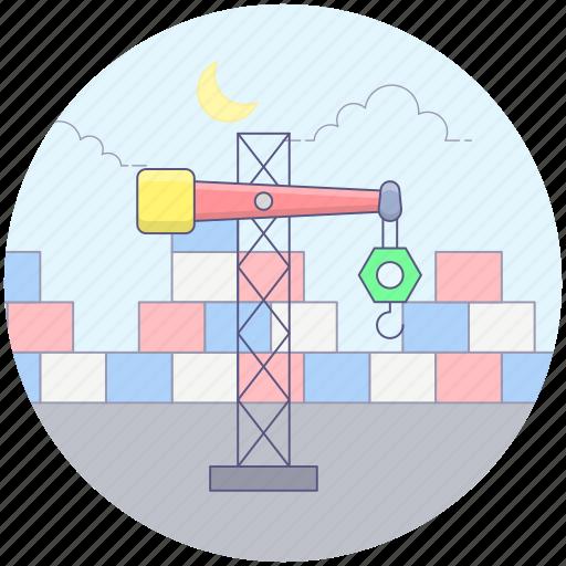 construction hook, construction lift, crane machine, industrial crane, industrial hook, tower crane icon