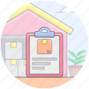checklist, delivery list, memo pad, parcel checklist, parcel document, parcel list icon