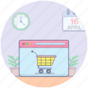 ecommerce, online delivery, online marketing, online shopping, shopping website icon