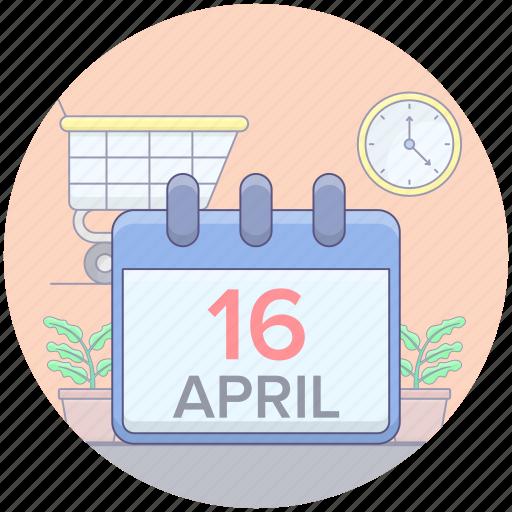 almanac, calendar, chronology, daybook, reminder, yearbook icon