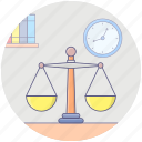 balance scale, equity, justice scale, law, measuring scale icon