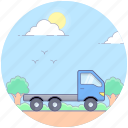 cargo, delivery van, loader truck, logistic delivery, shipment, shipping truck icon