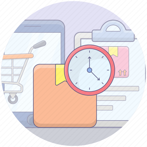 delivery duration, delivery schedule, delivery time, logistic delivery, shipping time icon