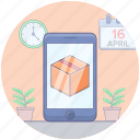 delivery app, m commerce, mobile app, online delivery, online delivery app icon