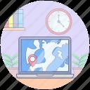 navigation software, online gps, online map, online navigation, web navigation icon