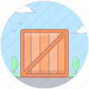 box, carton, crate, package, packing box, wooden storage icon