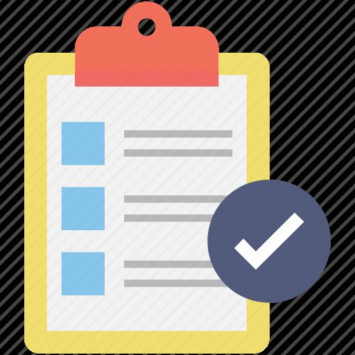 checklist, list, memo, task, tick icon