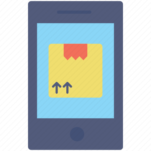 app, logistics, mobile, package, smartphone icon