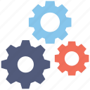 cogs, cogwheel, configure, gear, setting icon
