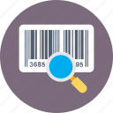 barcode, barcode reader, magnifier, scanner, upc icon