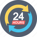 customer service, helpline, service, support, twenty four hours icon