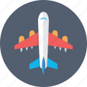 aeroplane, airline, airplane, flight, plane icon