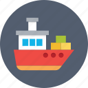 cargo ship, cruise, logistics, ship, shipment icon