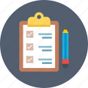 checklist, clipboard, list, memo, task icon