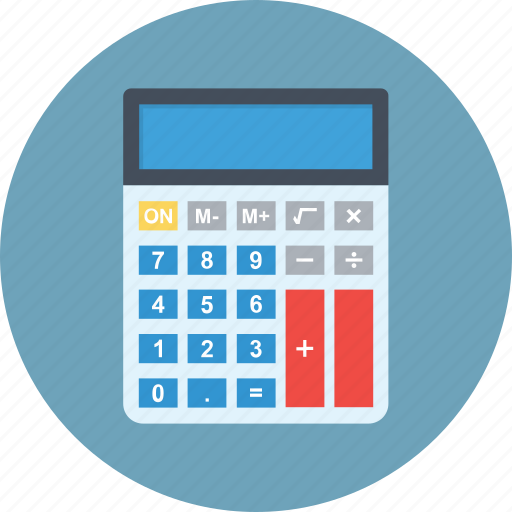 accounting, calculation, calculator, math, office supplies icon