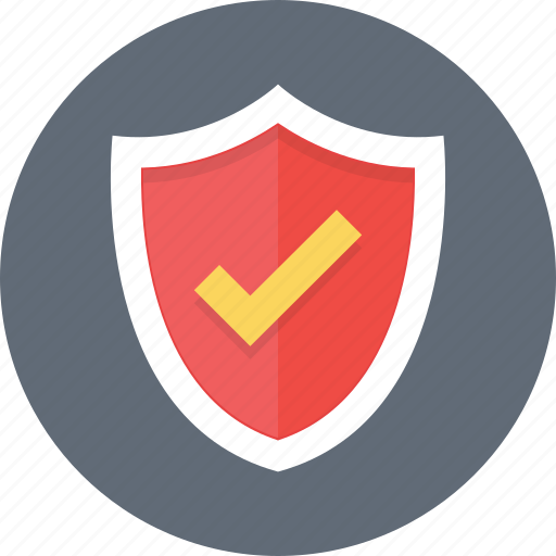 insurance, protection, security, shield, tick icon