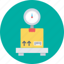 freight, logistics, package, platform scale, scale icon