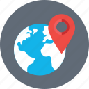 globe, gps, location, navigation, worldwide icon