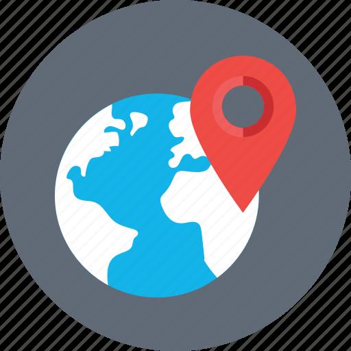 globe, gps, location, navigation, worldwide icon