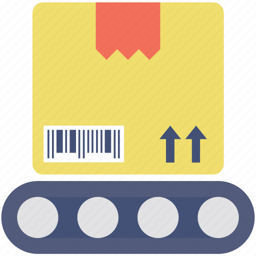 box, conveyor, distribution, logistics, package icon