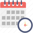 appointment, calendar, clock, schedule, timetable icon
