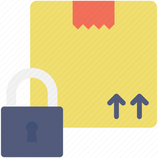 insurance, lock, logistics, package, security icon