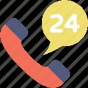 customer service, helpline, receiver, support, twenty four hours