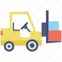 forklift, freight, logistics, vehicle, warehouse