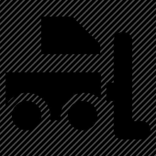 forklift, freight, logistics, vehicle, warehouse icon