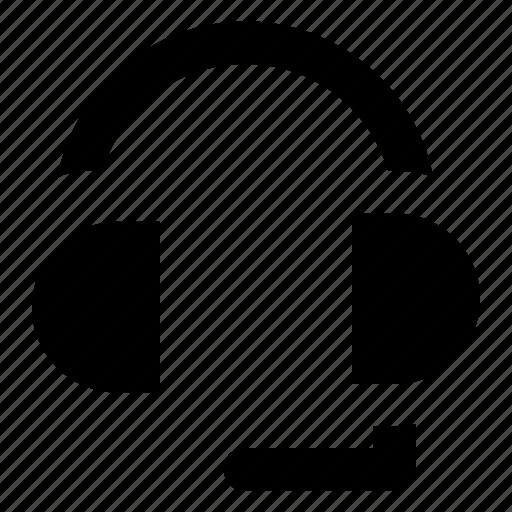 customer service, earphones, headphone, music, telemarketer icon