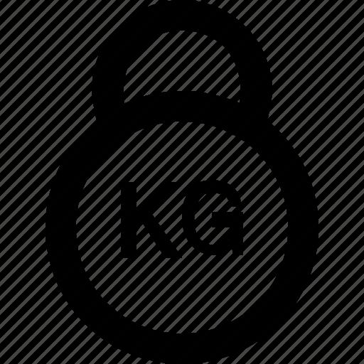 kg, kilogram, measure, tool, weight icon