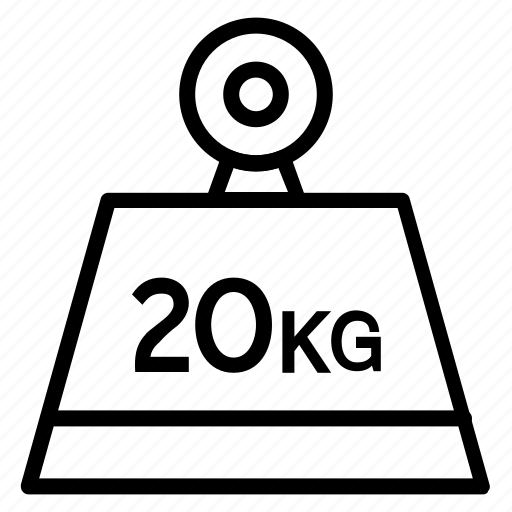 kg, kilogram, measure, weight, weight tool icon