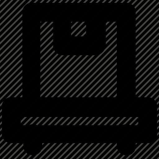 box, conveyor, distribution, logistics, package icon