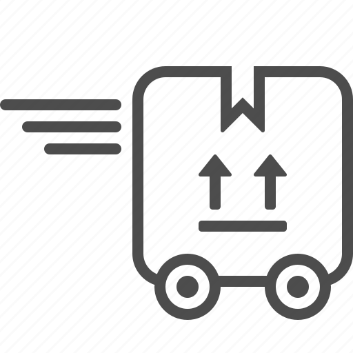 box, courier service, delivery, fast, package, speed icon