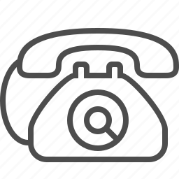 call, dial, landline, phone, telephone icon