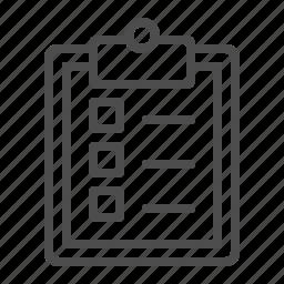 check list, clipboard, tick box icon