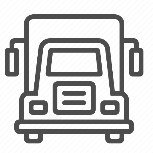 delivery, lorry, transportation, truck, van, vehicle icon