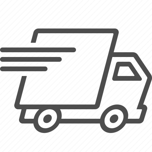 delivery truck, fast, speed, transportation, truck, vehicle icon