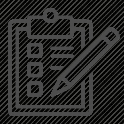 checkbox, checklist, clipboard, logistics, pencil icon