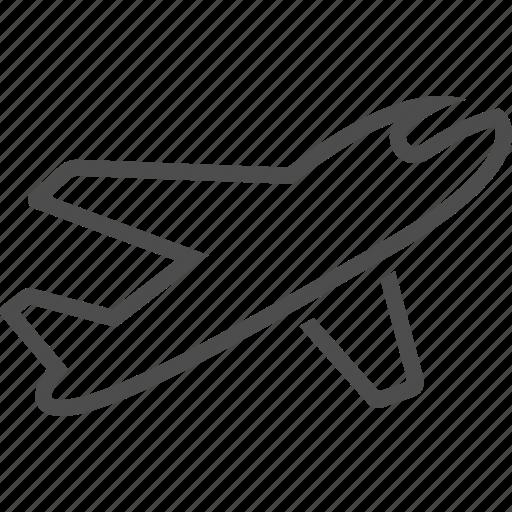 aircraft, airplane, flight, flying, plane, transportation icon