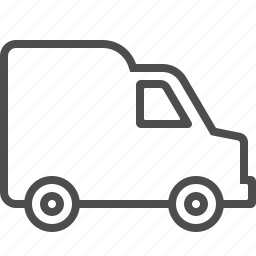 delivery, transportation, truck, van, vehicle icon