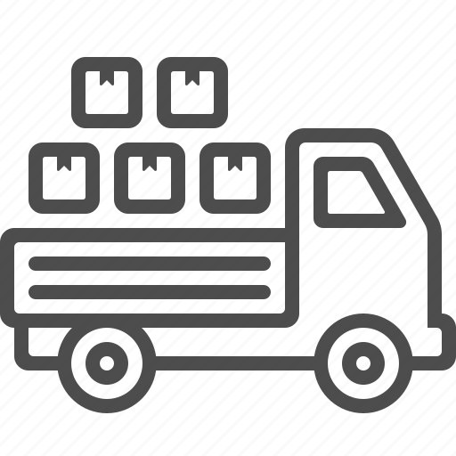 box, crate, delivery, package, transportation, truck, vehicle icon