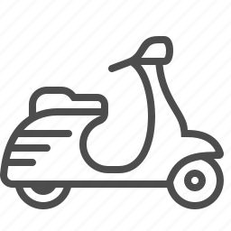 delivery, moped, scooter, transportation, vehicle icon