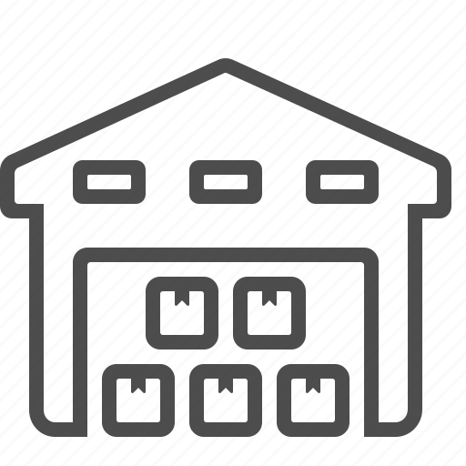 box, building, crate, logistics, storage unit, warehouse icon