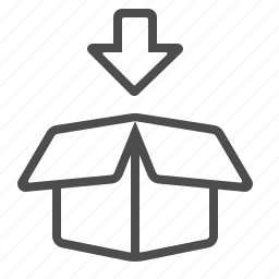 arrow, box, crate, delivery, package icon