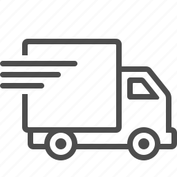 delivery, fast, shipping, transportation, truck, vehicle icon